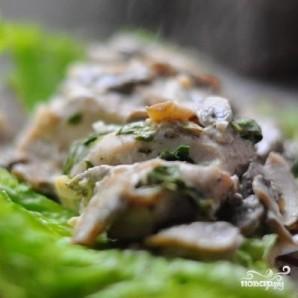 Куриные грудки со шпинатом и грибами - фото шаг 8