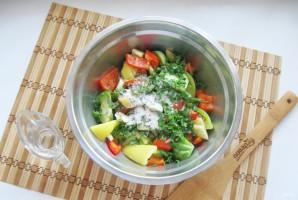 Салат из зеленых помидоров по-грузински - фото шаг 7