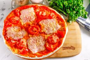 Пицца из лаваша в микроволновке - фото шаг 7