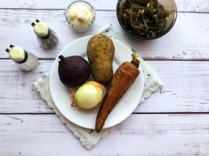 Салат с морской капустой и свеклой - фото шаг 1