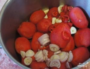 Томатный суп с кальмарами - фото шаг 3