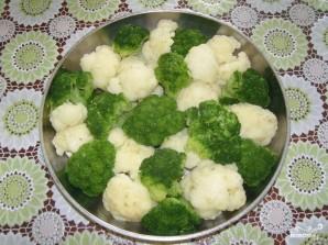 Цветная капуста с брокколи запеченная с сыром - фото шаг 2