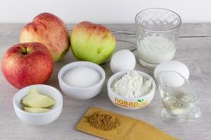Яблочный пирог (мало теста, много яблок) - фото шаг 1