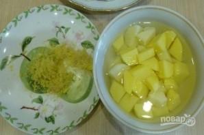 Гороховый суп с курицей на кокосовом молоке - фото шаг 2