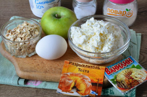 Творожная запеканка с геркулесом и яблоками - фото шаг 1