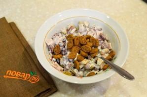 Фасолевый салат с сухариками - фото шаг 5