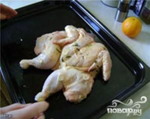 Курица с розмарином, чесноком и апельсинами - фото шаг 3