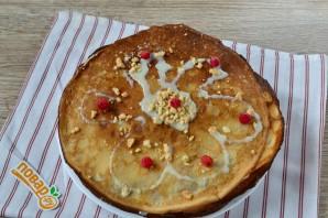 Блинный торт с грецкими орехами и бананами - фото шаг 9