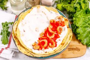Тортилья с креветками