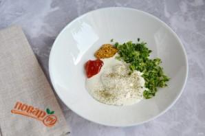 Салат с копченой сельдью - фото шаг 6
