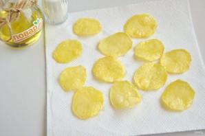 Хрустящие картофельные чипсы  - фото шаг 7