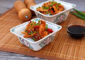 Фунчоза с курицей в кисло-сладком соусе - фото шаг 11