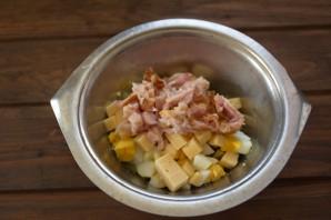 Салат обалденный с копченой курицей - фото шаг 4