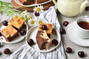 Шоколадный пирог с творогом - фото шаг 12
