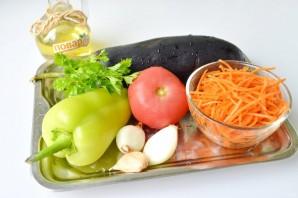 Салат с баклажанами и морковью по-корейски - фото шаг 1