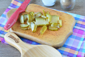 Салат из свиного сердца с грибами - фото шаг 2