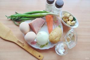 Слоеный салат с бужениной - фото шаг 1