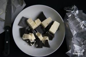 Шоколадный торт с черникой - фото шаг 2