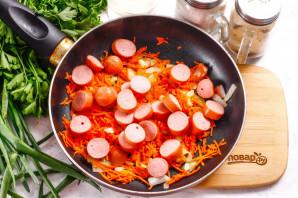 Суп с чечевицей и сосисками - фото шаг 5