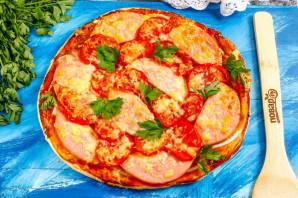 Пицца с колбасой из слоеного теста - фото шаг 8
