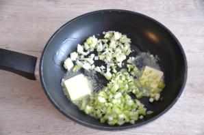 Зеленая гречка с грибами