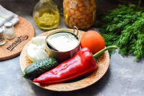Салат с нутом и тунцом - фото шаг 1