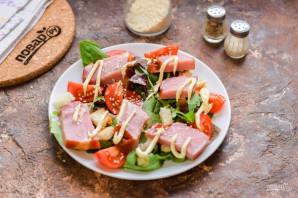 Салат с балыком - фото шаг 5