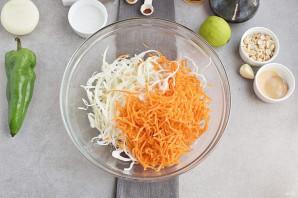 Салат с рисовой лапшой - фото шаг 4