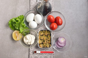 Салат из мяса мидий - фото шаг 1