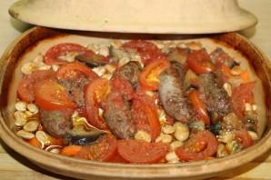 Фасоль с колбасками - фото шаг 12