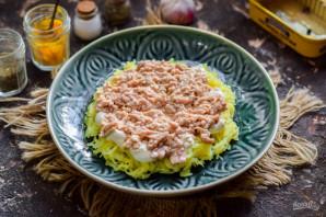 Салат из печени трески слоеный - фото шаг 4