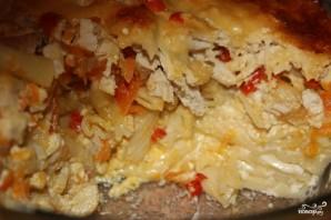 Запеканка с макаронами и курицей в духовке - фото шаг 4