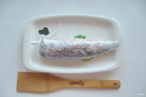 Скумбрия соленая в морозилке - фото шаг 9
