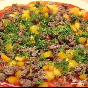 Пицца с фаршем - фото шаг 5