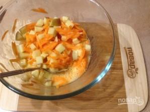 Маффины из цельнозерновой муки с яблоком и морковью - фото шаг 5