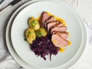 Утка с капустой и картошкой - фото шаг 8