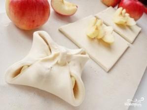 Слоеные конвертики с яблоками - фото шаг 3
