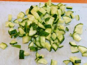 Зеленый салат со щавелем - фото шаг 4