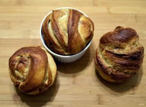 Сдобные булочки в стиле краффин - фото шаг 12