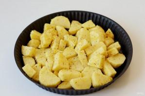 Картофель в кукурузной муке - фото шаг 5