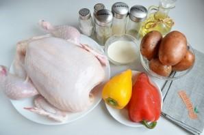 Курица с перцем и картофелем - фото шаг 1
