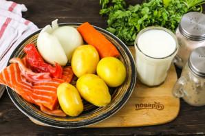 Сливочный суп с горбушей - фото шаг 1