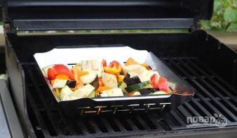 Овощи на гриле для салата - фото шаг 4