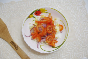 Салат с кальмарами и болгарским перцем - фото шаг 5