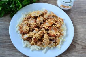 Салат с фасолью, капустой и курицей - фото шаг 6