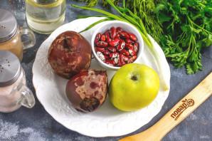 Салат из свеклы с фасолью и яблоком - фото шаг 1
