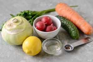 Салат из кольраби и редиса - фото шаг 1