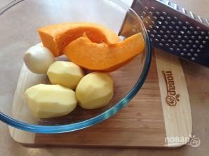 Картофельно-тыквенные драники с куриным фаршем - фото шаг 1