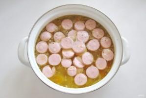 Суп с фасолью и сосисками - фото шаг 6