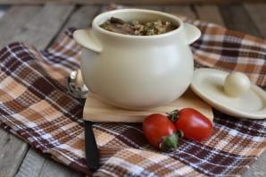 Рис с грибами, овощами и шпинатом - фото шаг 8